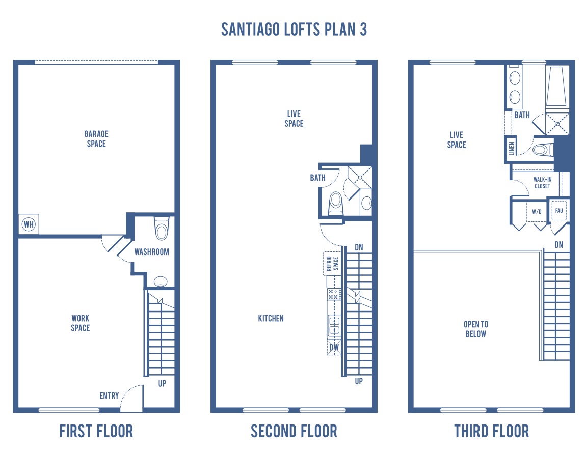 Watermarke Irvine Floor Plans: Santiago Street Lofts
