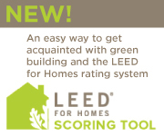 Leed for homes scoring tool for Leed for homes provider